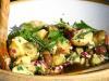 Salade de pommes de terre aux herbes et oignons